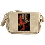Lady / Black Pug Messenger Bag