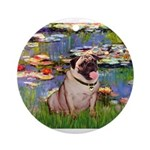 Lilies (#2)/Pug (#2) Ornament (Round)