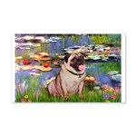 Lilies (#2)/Pug (#2) 20x12 Wall Decal