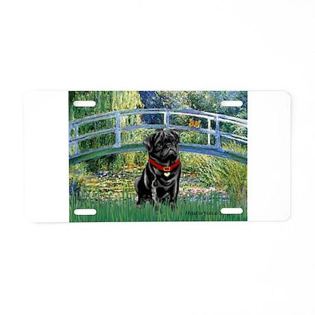 Bridge / Black Pug Aluminum License Plate