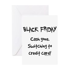 Black friday switching funny Greeting Card