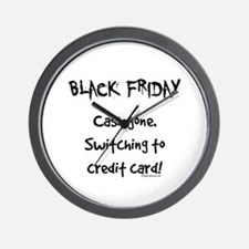 Black friday switching funny Wall Clock