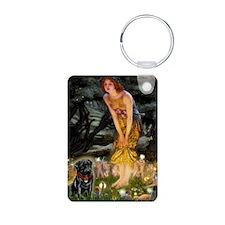 Fairies & Black Pug Keychains