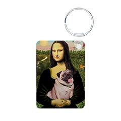 Mona's Fawn Pug (#2) Keychains
