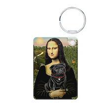 Mona's Black Pug Keychains