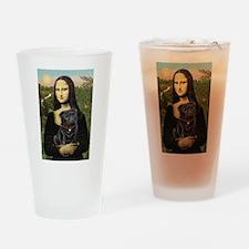 Mona's Black Pug Drinking Glass