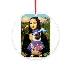 Mona & Sir Pug Ornament (Round)