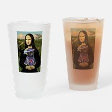 Mona & Sir Pug Drinking Glass