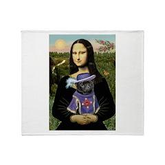 Mona & Sir Pug Throw Blanket