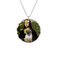 Mona's Fawn Pug Necklace