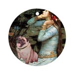 Ophelia / Fawn Pug Ornament (Round)