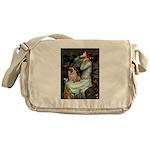 Ophelia / Fawn Pug Messenger Bag