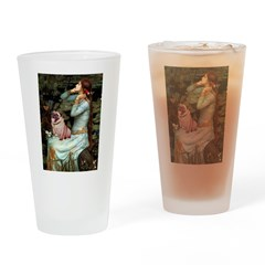 Ophelia / Fawn Pug Drinking Glass