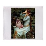 Ophelia / Fawn Pug Throw Blanket