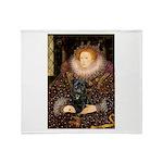 The Queen's Black Pug Throw Blanket