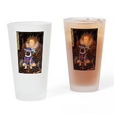 Queen-Sir Pug (17) Drinking Glass