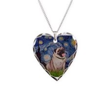 Starry Night and Pug Necklace