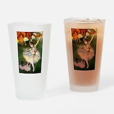 Dancer / 2 Pugs Drinking Glass