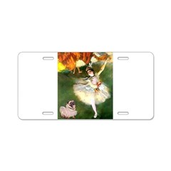 Dancer 1 & fawn Pug Aluminum License Plate