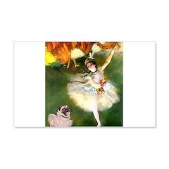 Dancer 1 & fawn Pug Wall Decal