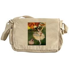 Dancer 1 & fawn Pug Messenger Bag