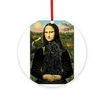 Mona Lisa /Puli Ornament (Round)