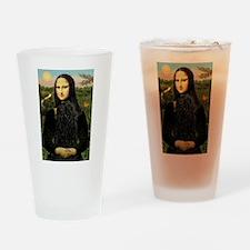 Mona Lisa /Puli Drinking Glass
