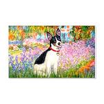 Garden / Rat Terrier 20x12 Wall Decal