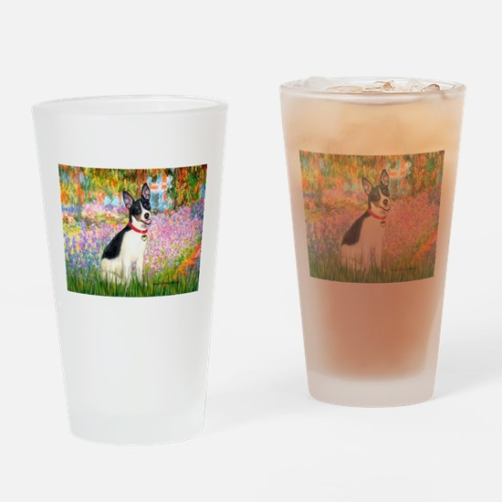 Garden / Rat Terrier Drinking Glass