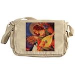 Mandolin / Rat Terrier Messenger Bag