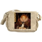 Queen / Rat Terrier Messenger Bag