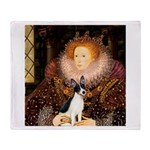 Queen / Rat Terrier Throw Blanket