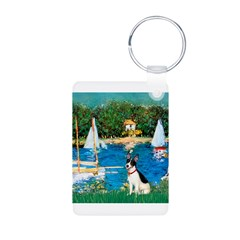 Sailboats / Rat Terrier Keychains