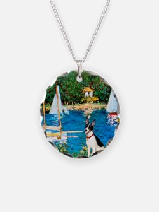 Sailboats / Rat Terrier Necklace