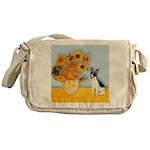 Sunflowers / Rat Terrier Messenger Bag