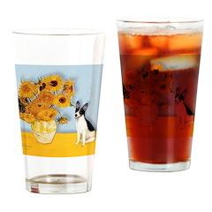Sunflowers / Rat Terrier Drinking Glass
