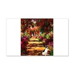 Path / Rat Terrier 20x12 Wall Decal