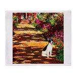 Path / Rat Terrier Throw Blanket