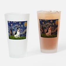 Starry / Rat Terreier Drinking Glass