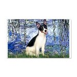 Lilies / Rat Terrier 20x12 Wall Decal