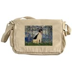 Lilies / Rat Terrier Messenger Bag