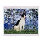 Lilies / Rat Terrier Throw Blanket