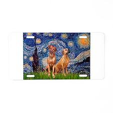 Starry / Rhodesian Ridgeback Aluminum License Plat