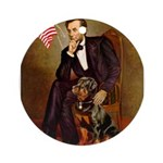 Lincoln's Rottweiler Ornament (Round)