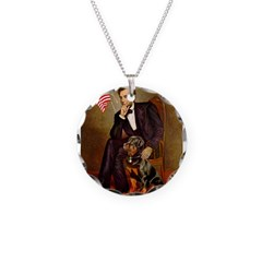 Lincoln's Rottweiler Necklace Circle Charm