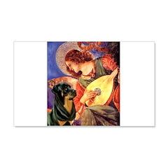 Mandolin Angel/Rottweiler Wall Decal