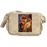 Mandolin Angel/Rottweiler Messenger Bag