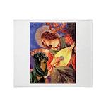 Mandolin Angel/Rottweiler Throw Blanket