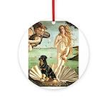 Venus & Rottweiler Ornament (Round)