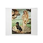 Venus & Rottweiler Throw Blanket